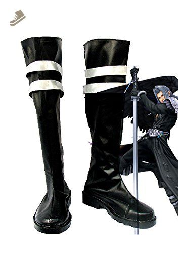 Final Fantasy VII FF7 Sephiroth Cosplay Shoes Boots Custom Made 2