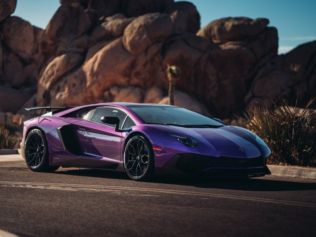 Lamborghini Aventador Lp 750 Sports Car Purple Wallpaper Cars