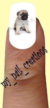 Pug Nail Decal, eBay $1.99