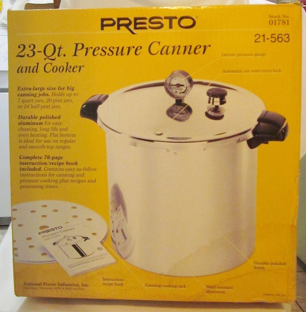 Presto 01781 23 Quart Pressure Canner And Cooker New Freeship
