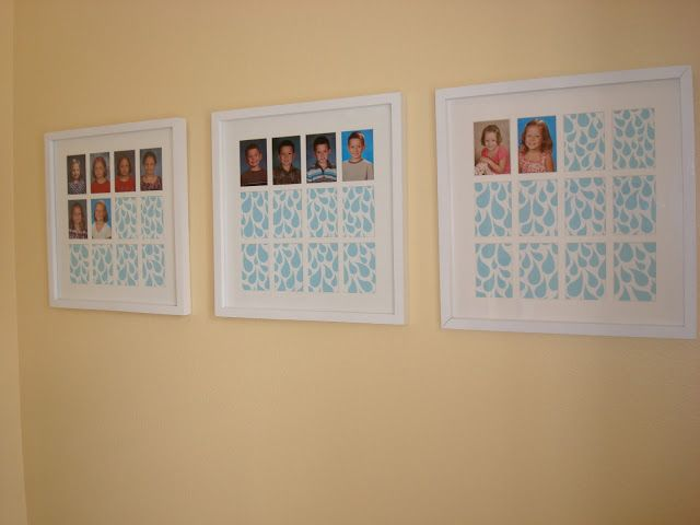 school photo display...HANG ABOVE BACKPACKS? | ideas for the ...