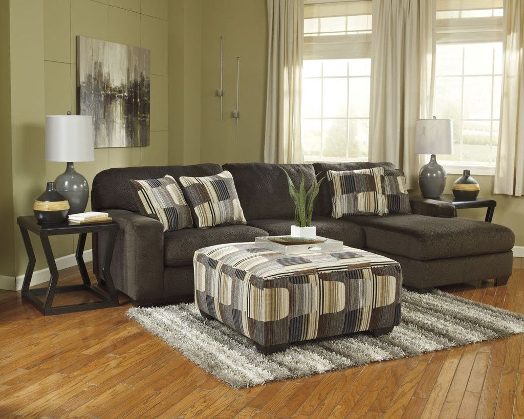 Westen Chocolate Sectional With Ottoman  Living Room  Pinterest Pleasing Living Room Ottoman Review