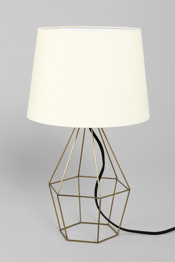 Size base diameter 6 total height 20 requires a 60watt urban outfitters lamp magical thinking geo wire lamp i urban outfitters greentooth Image collections