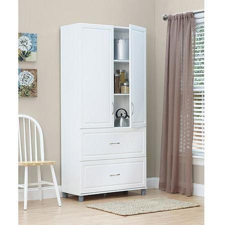 $273 15.375 X 35.687 X 75.187 Walmart SystemBuild 2 Drawer / 2 Door Utility  Storage Cabinet