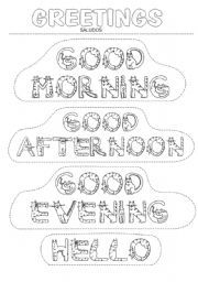 Good Morning Greeting Coloring Page Newer Class ideas