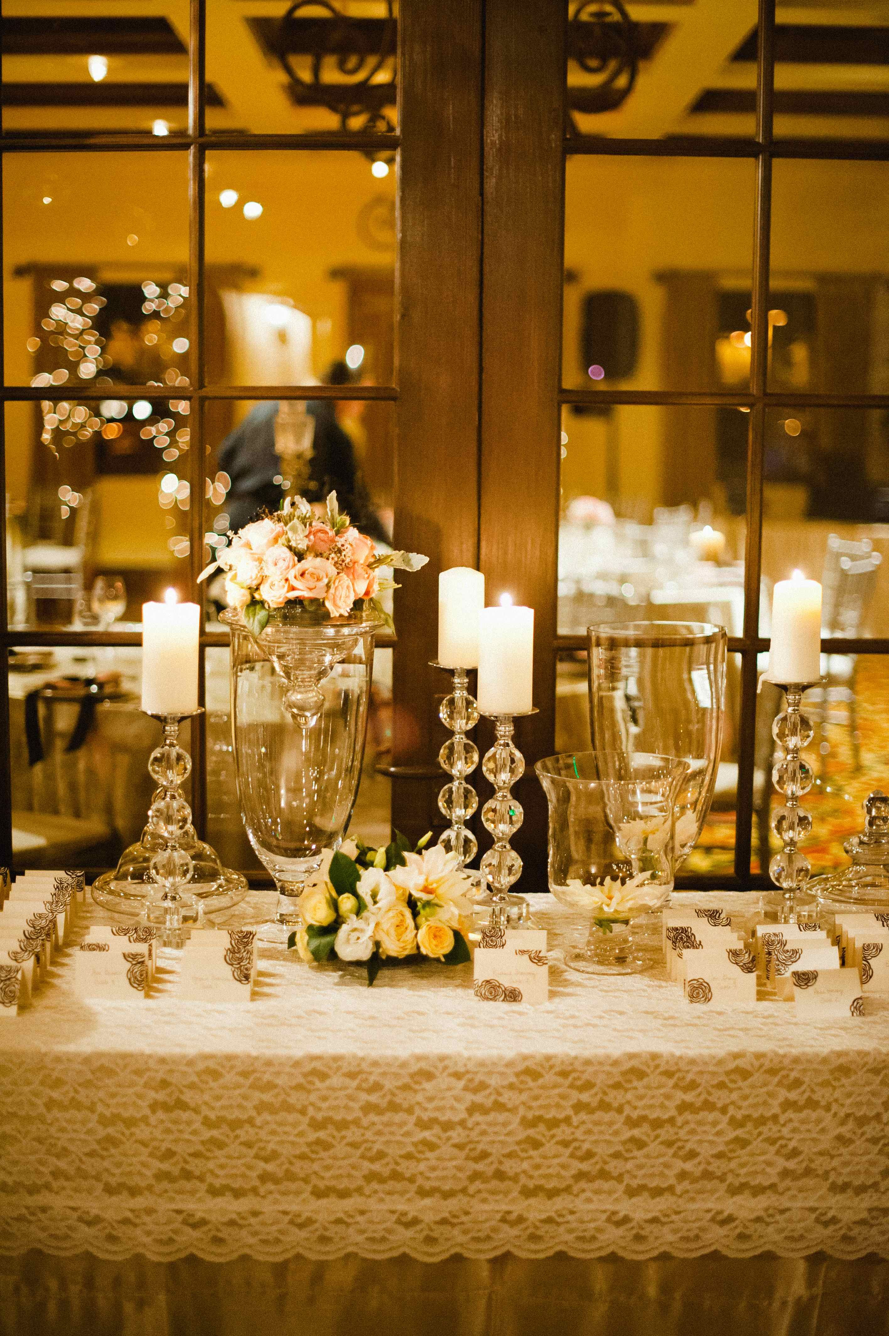 Oooh I Love The Candle Holders Place Card Table