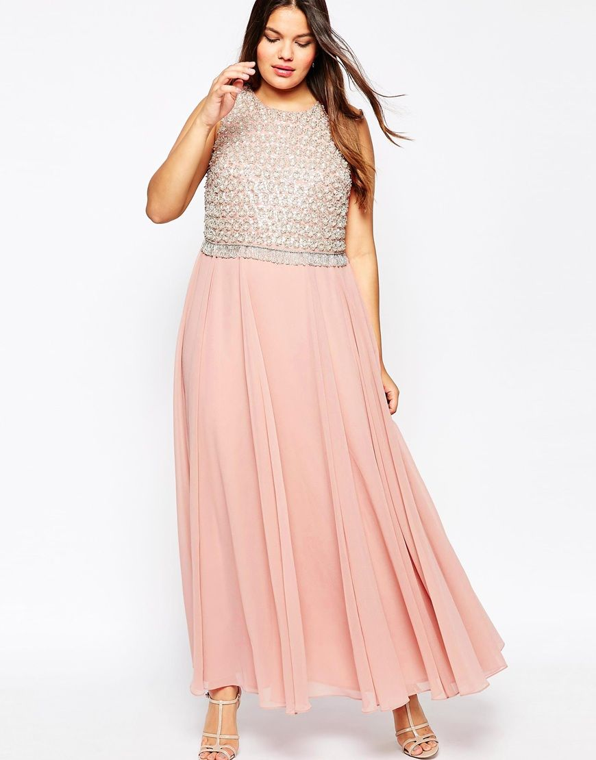 Image 4 of ASOS CURVE Double Layer Embellished Maxi Dress | Fashion ...