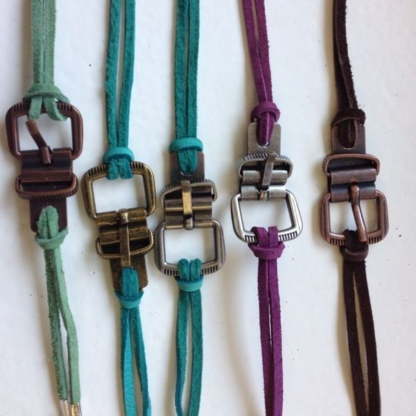 Handmade Buckle Bracelets On Suede With A Lobster Claw Clasp! #shopsmall BUY NOW $12.00