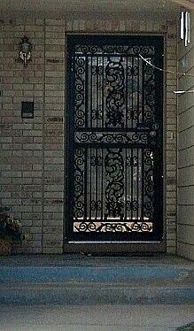 Wrought Iron Storm Door Want Storm Door Beautiful Space