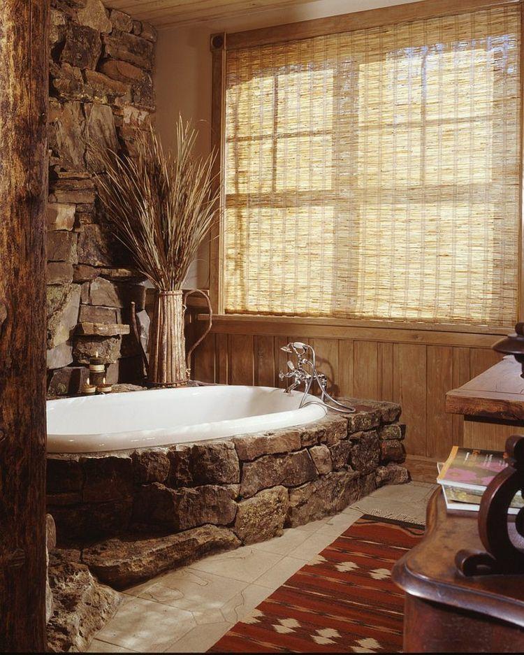 Badmobel Landhaus Badewanne Verkleidet In Stein Badezimmer