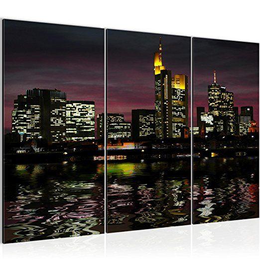 Bilder Frankfurt am Main Stadt Wandbild 120 x 80 cm Vlies - Leinwand