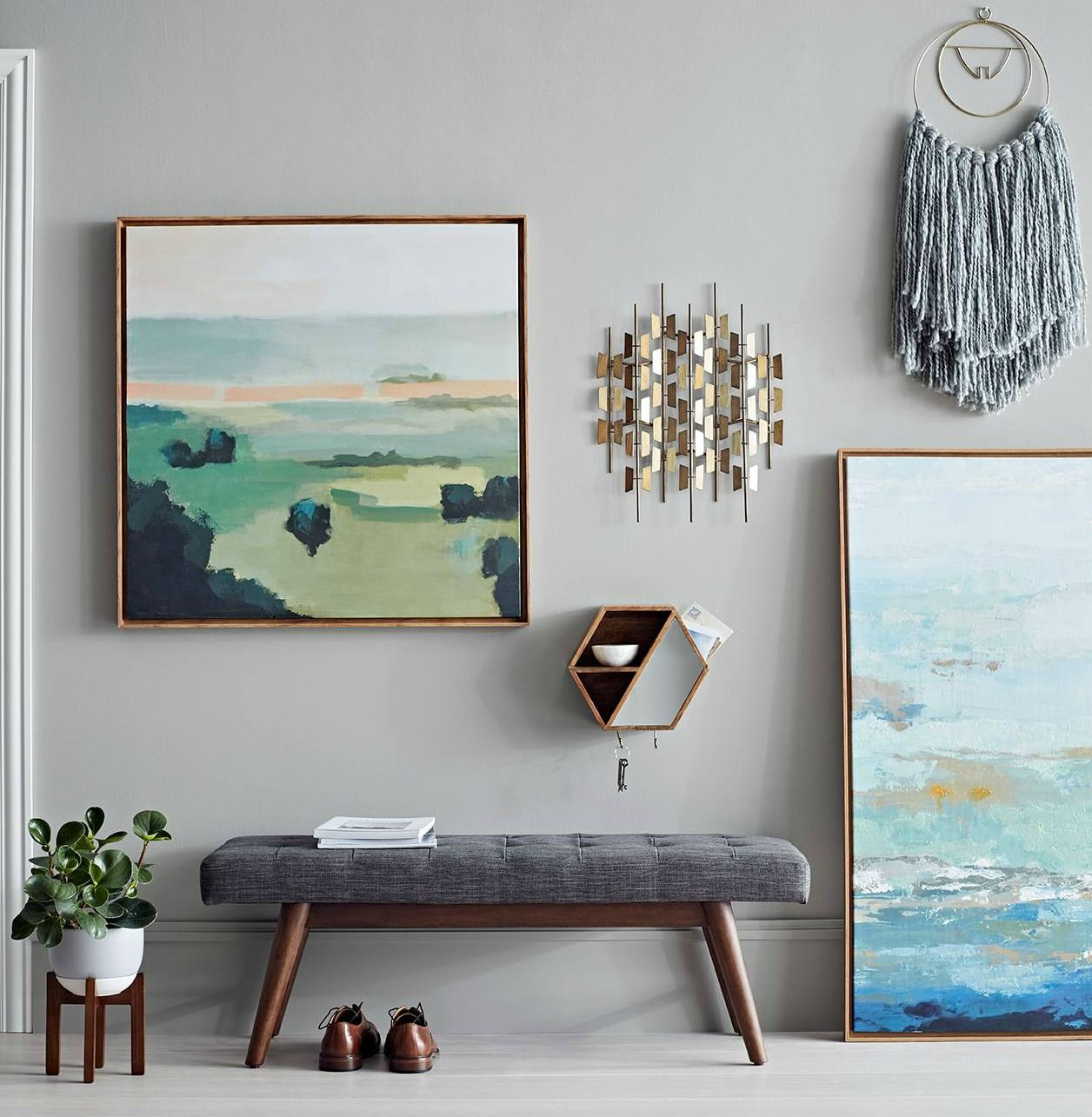 My Favorite Finds From Target S New Project 62 Product Line Pieces That Would Fit A Modern La Abstract Wall Canvas Modern Gallery Wall Modern Wall Tapestries