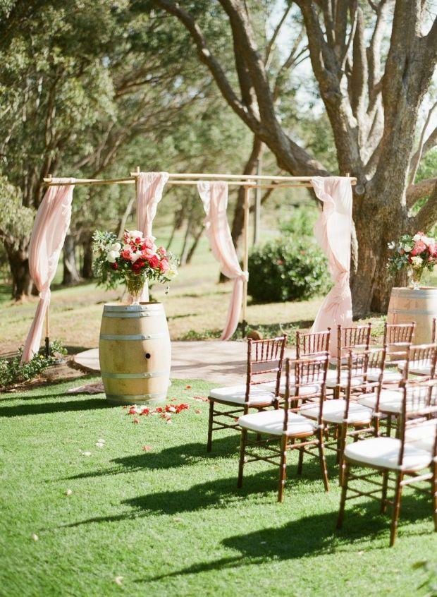 Walnut tiffany ceremony chairs | Wedding Ceremonies ...