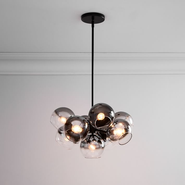 Staggered Glass Chandelier