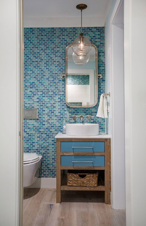 Nautical Beach Condo Beach Bathroom Decor Beach Theme Bathroom