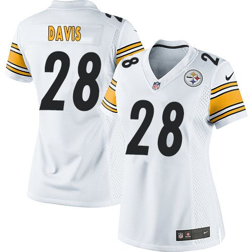1c3d04ac2d6 Women s Nike Pittsburgh Steelers  28 Sean Davis Elite White NFL Jersey