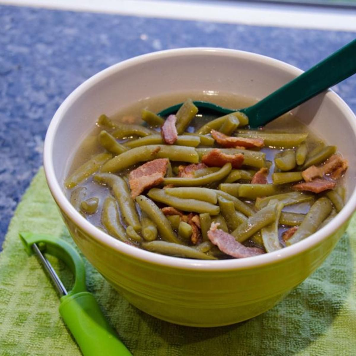 Green beans and bacon in the pressure cooker | Recipe | Breakfast ...