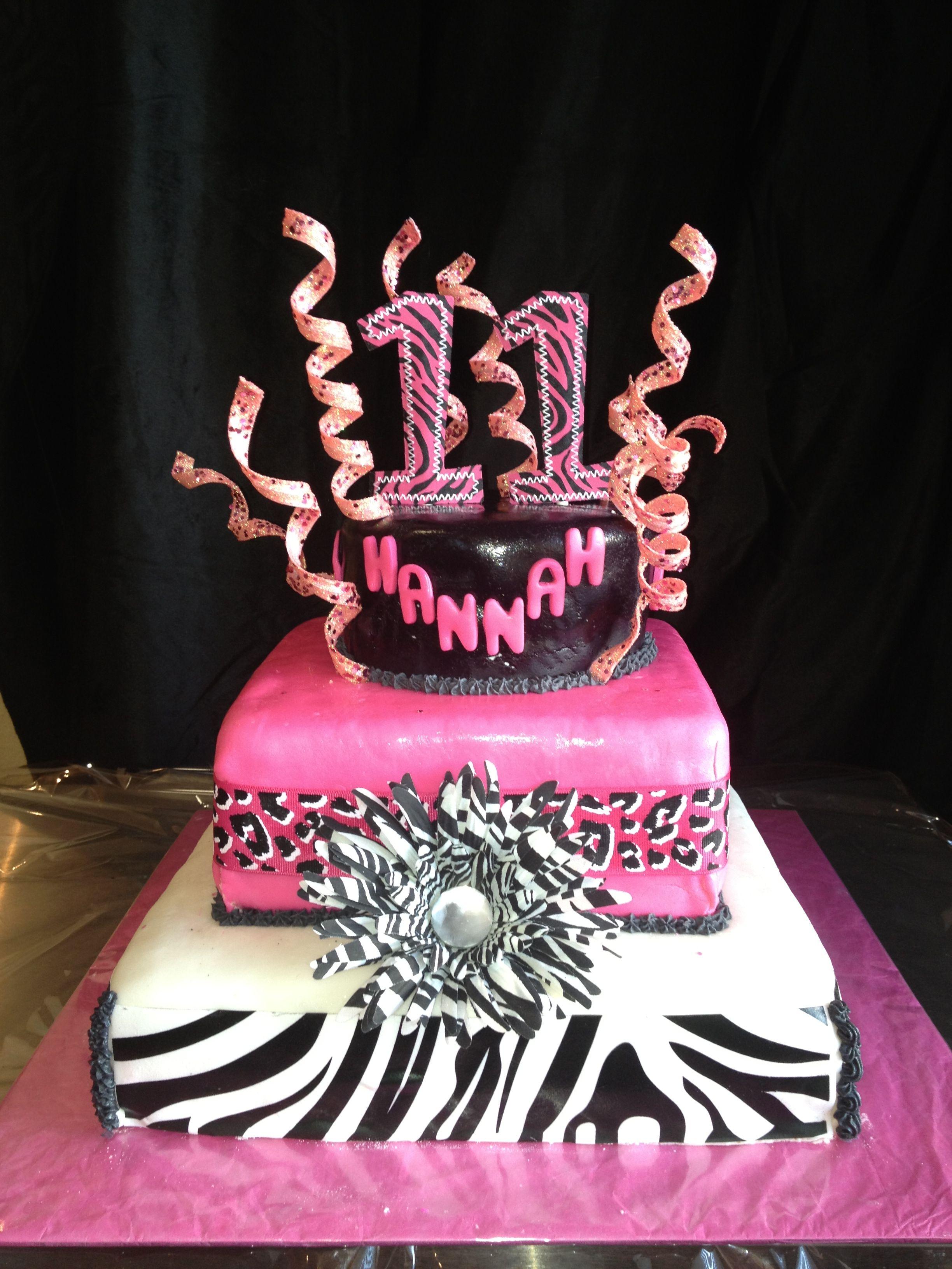 My Daughter S 11th Birthday Cake Brithday Cake Birthday Cake