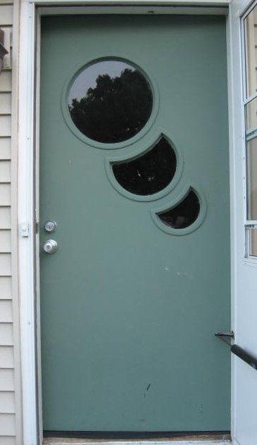 Pin By Joann Polickoski On Mcm Atomic Decor Modern Door Doors Steel Front Door