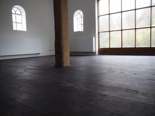 Zwarte houten vloer floor pinterest house