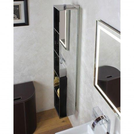 KOH-I-NOOR Ambrogio drehbares Hängeregal mit Spiegel Badezimmer - spiegel badezimmer mit beleuchtung
