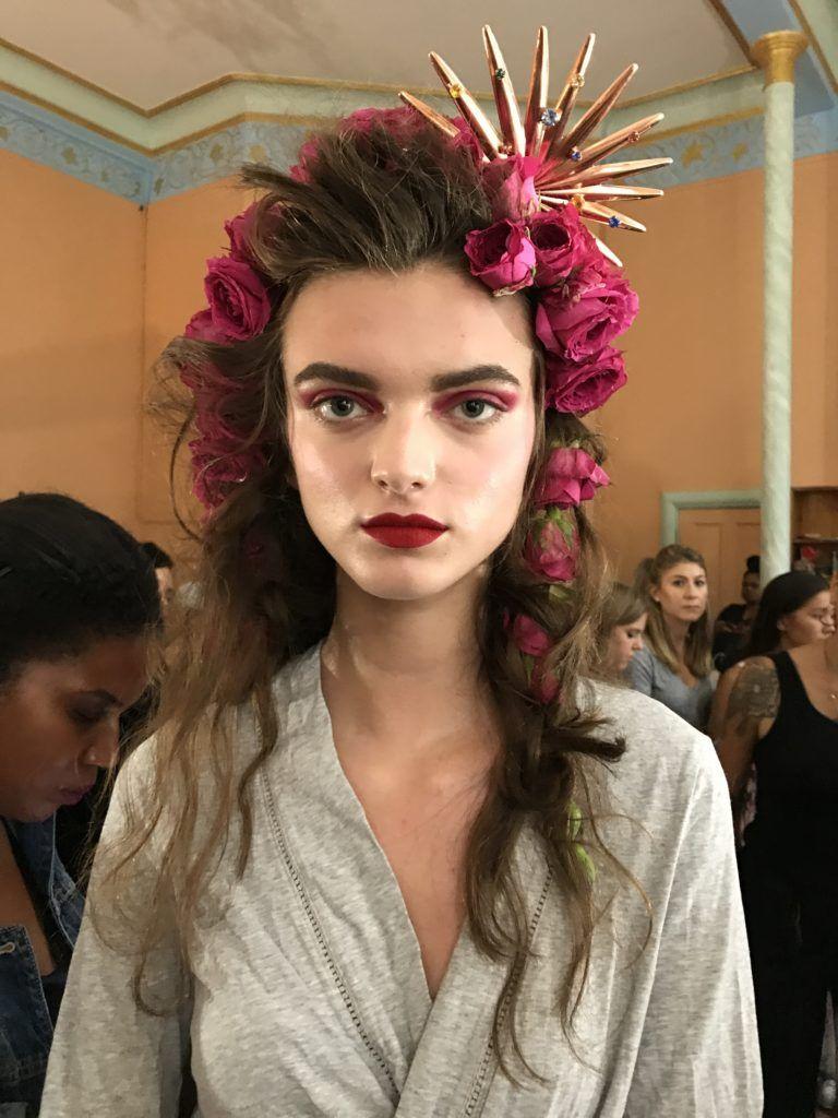 rodarte spring 2019 nyfw rose hair | hair & makeup in 2019 | hair