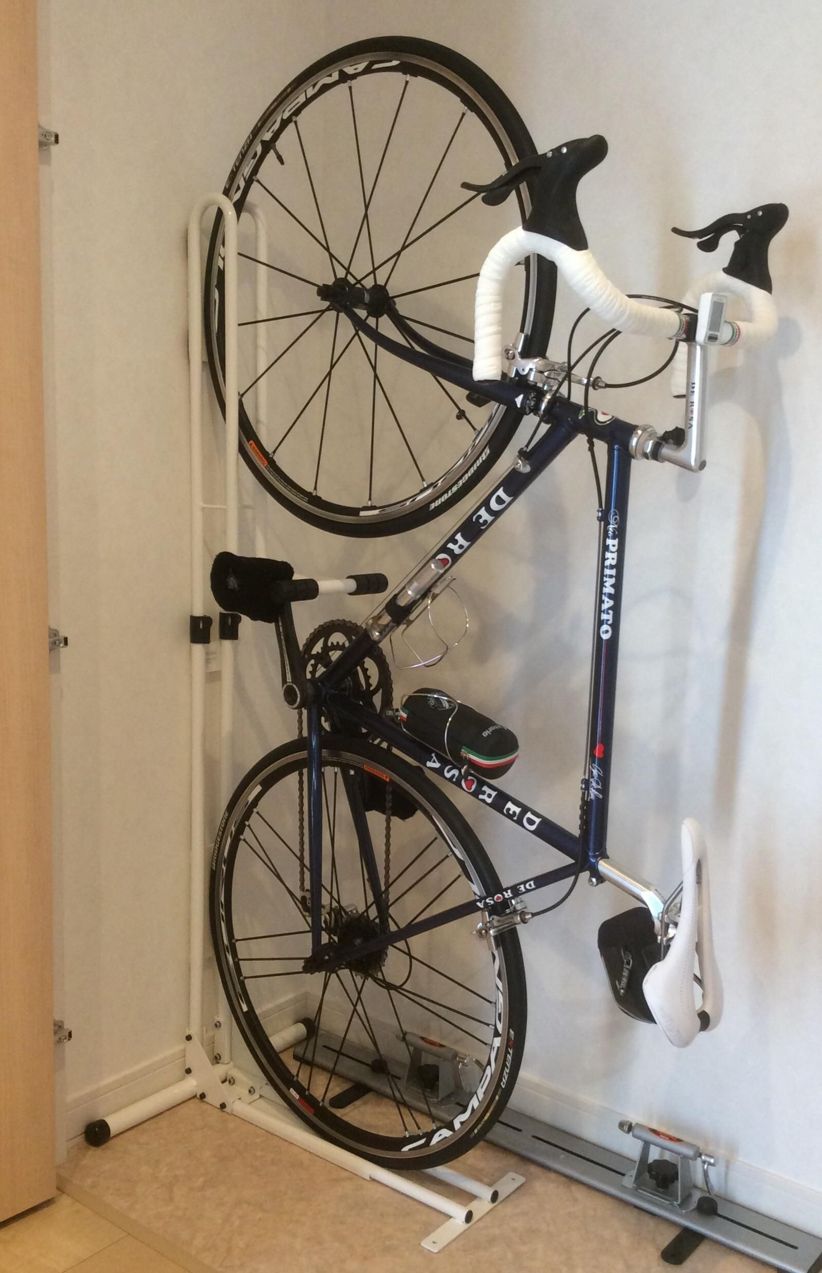 hook bicycle wall bike for garage hanger storage floor new double cycling itm racks rack stand