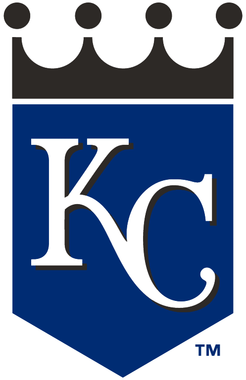 Kansas City Royals Alternate Logo 2002 Kc On Blue
