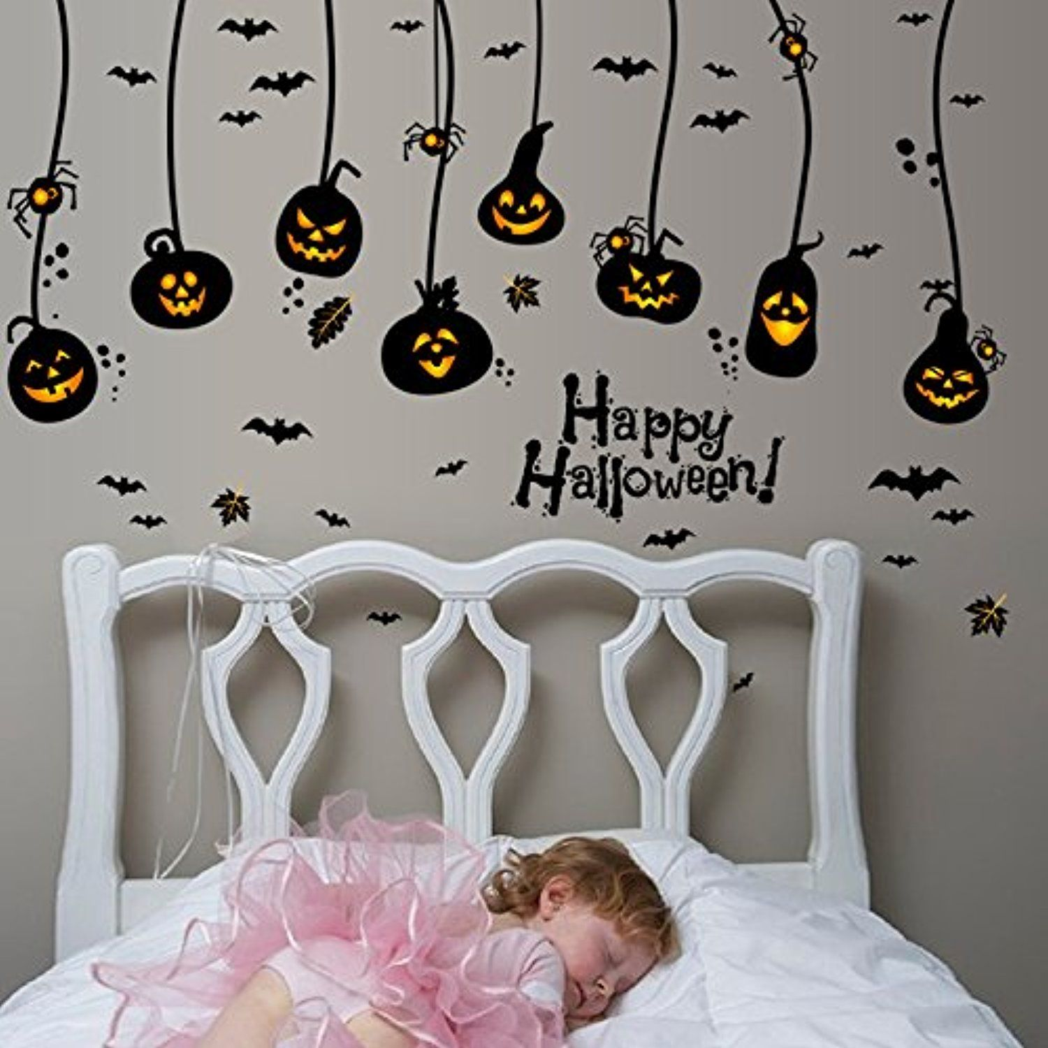 Nursery window ideas  happy halloween diy wall decals wall stickers indoor party