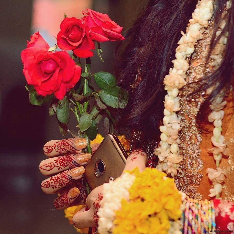 Image For Beautiful Flowers Stylish Girls For Fb Dp Wallpaper