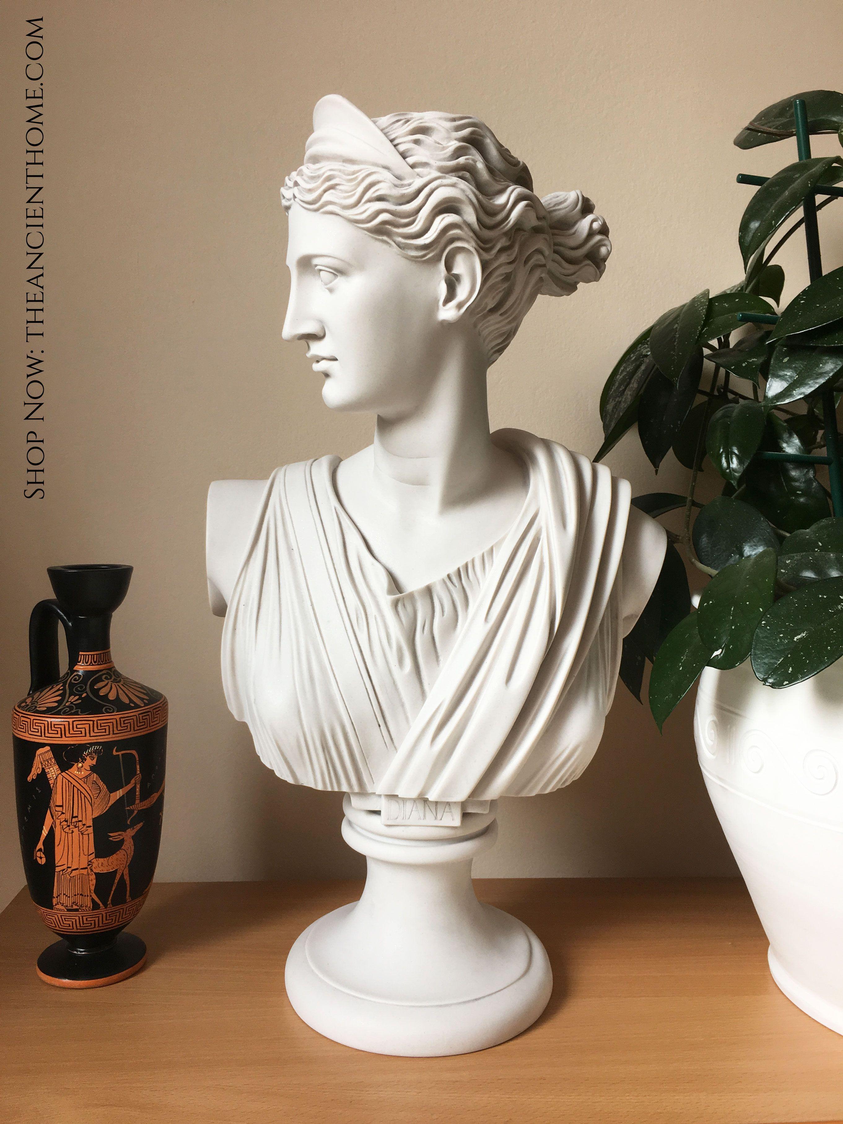 Diana Chasseresse Bust Sculpture