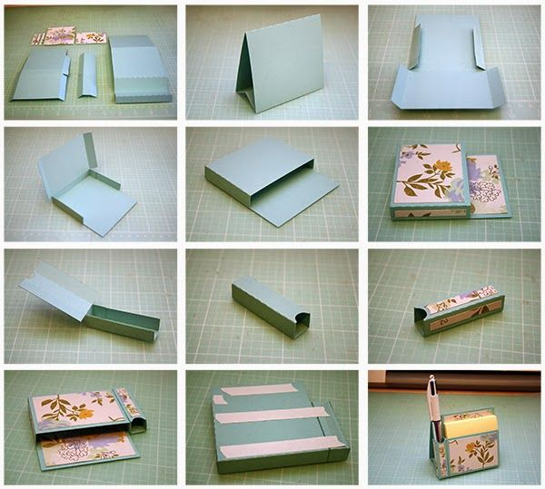 Hi Guys Here Are My New Easel Sticky Note Holders 3d Easelsticky Note Holder With Pen Note Holders Calendar Craft Post It Note Holders