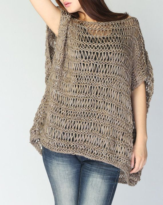Túnicas Mocha Loose Hand Woman Sweater Tunic Cotton Knit 8nx4w8qHZU