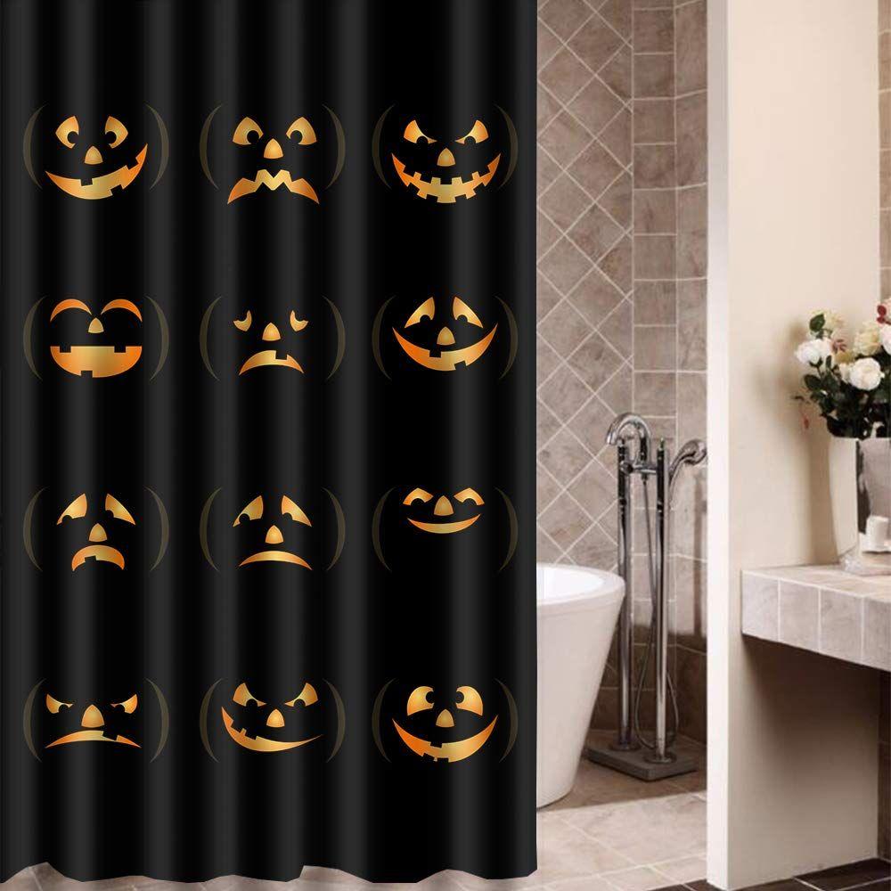 Shower Curtain Art Bathroom Decorfunny Halloween Time Ghost
