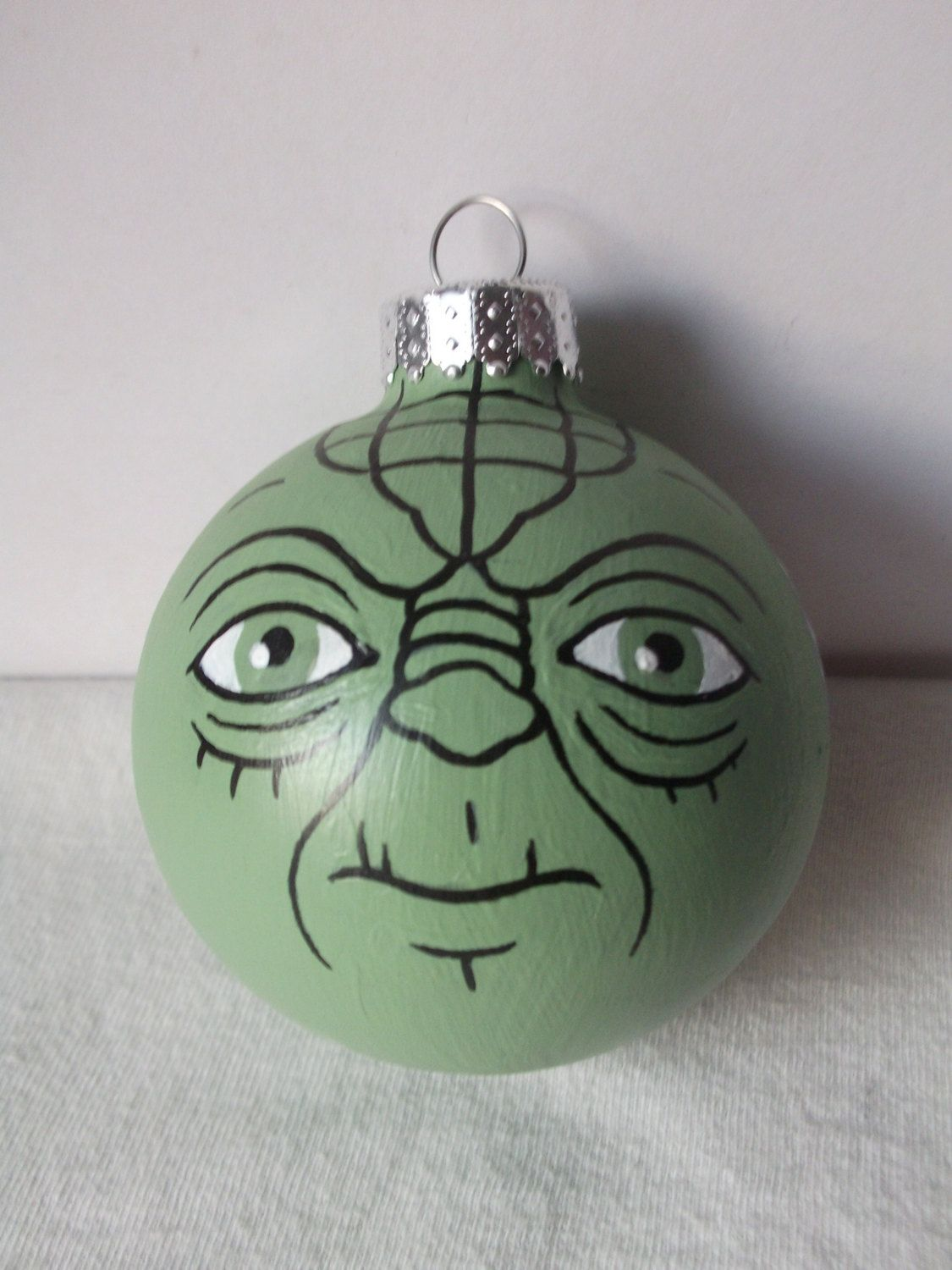 yoda star wars painted holiday ornament christmas pinterest war paint ornament and holidays. Black Bedroom Furniture Sets. Home Design Ideas