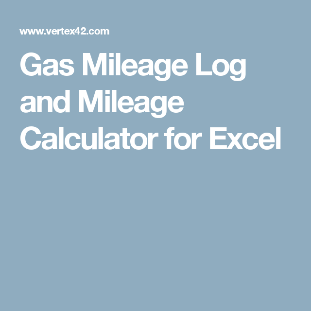mileage log calculator