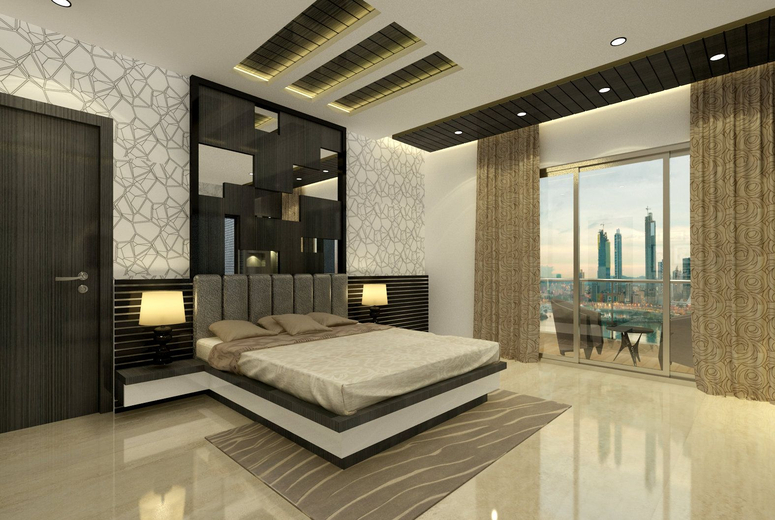 Master Bedroom We Design And Execute The Same Contact Us For All Interior Work Ceiling Design Bedroom Modern Bedroom Interior Bedroom Furniture Design