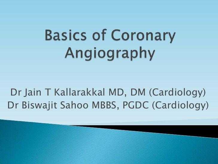 Basics of coronary angiography