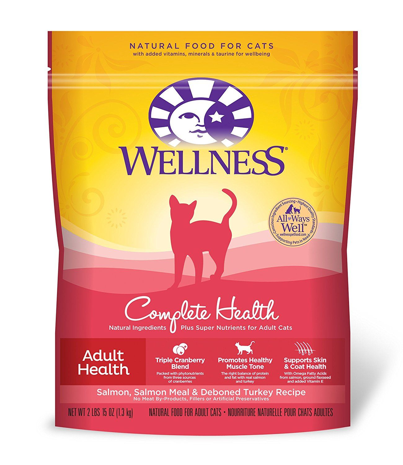 Wellness Complete Health Natural Dry Cat Food, Salmon and