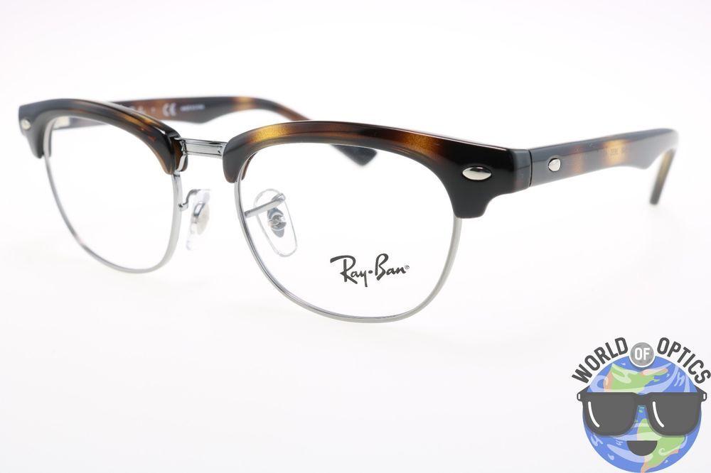 Ray-Ban JR RX Eyeglasses Clubmaster RB 1548 3650 Shiny Havana Frame ...