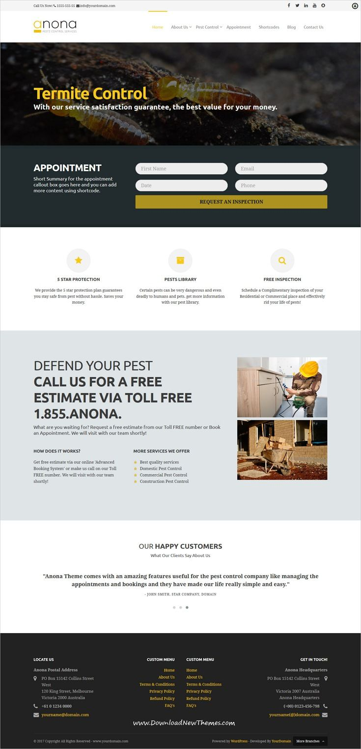 anona is clean and modern design responsive html5 angularjs template for pest control services website download now