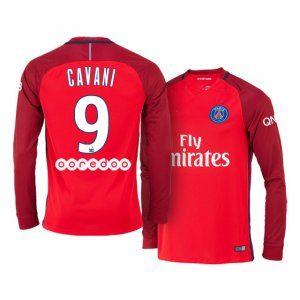 best service 2f8fe 5a1e4 PSG Away 16-17 Season LS #9 Cavani Red Soccer Jersey [J192 ...