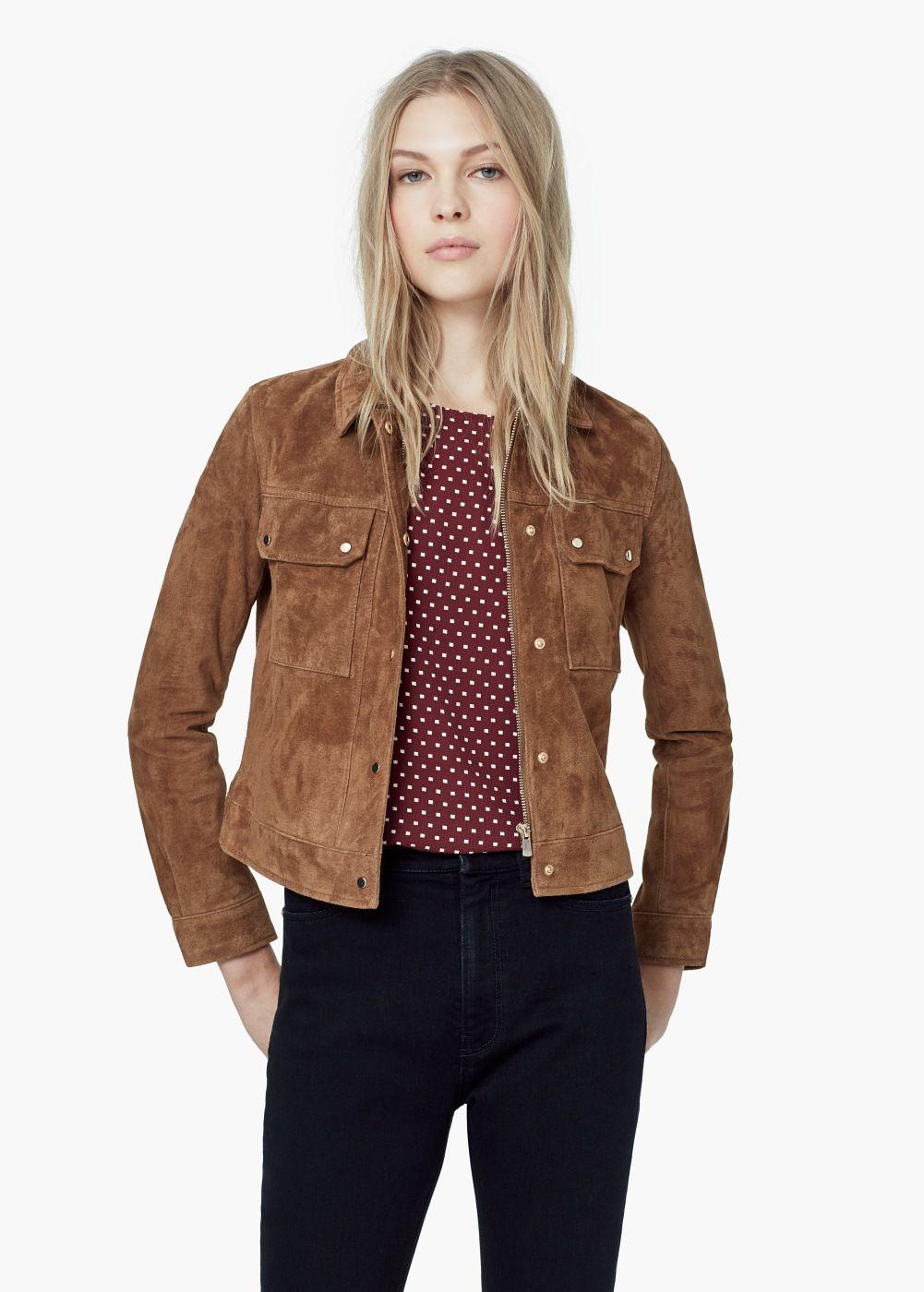 flappocket suede jacket Women Suede jacket, Jackets