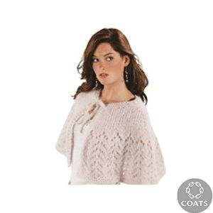 Knit capelet knitted ladies cape pattern by red heart free knit capelet knitted ladies cape pattern by red heart free knitting pattern dt1010fo
