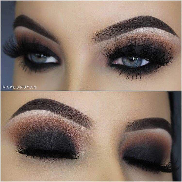 Dark smokey eye looks amazing - you could also use a deep navy blue for this look too #flawless...x