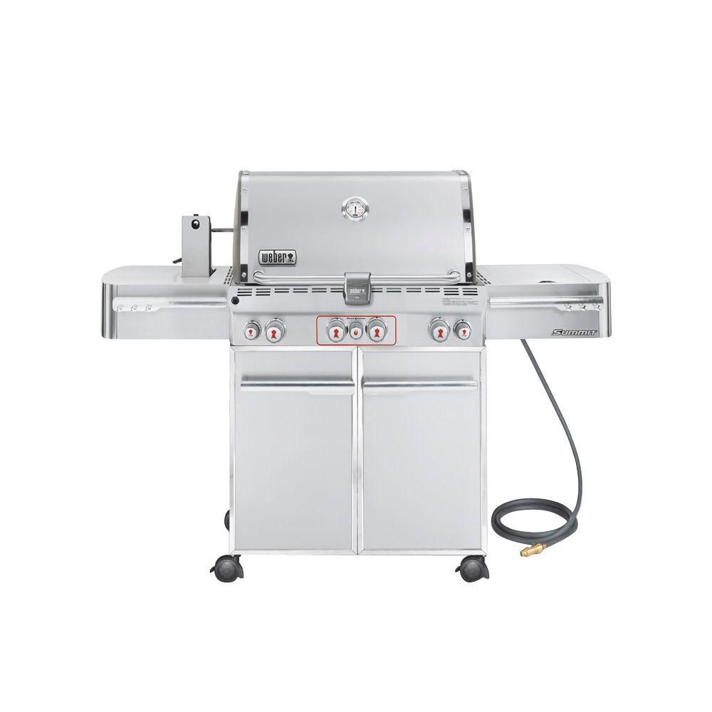 Summit S 470 4 Burner Natural Gas Bbq In Stainless Steel Natural Gas Grill Gas Bbq Natural Gas Bbq