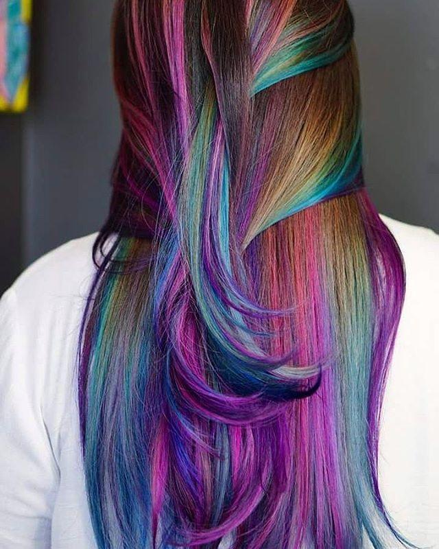 oil slick unicorn | hair | Hair painting, Hair, Oil slick hair