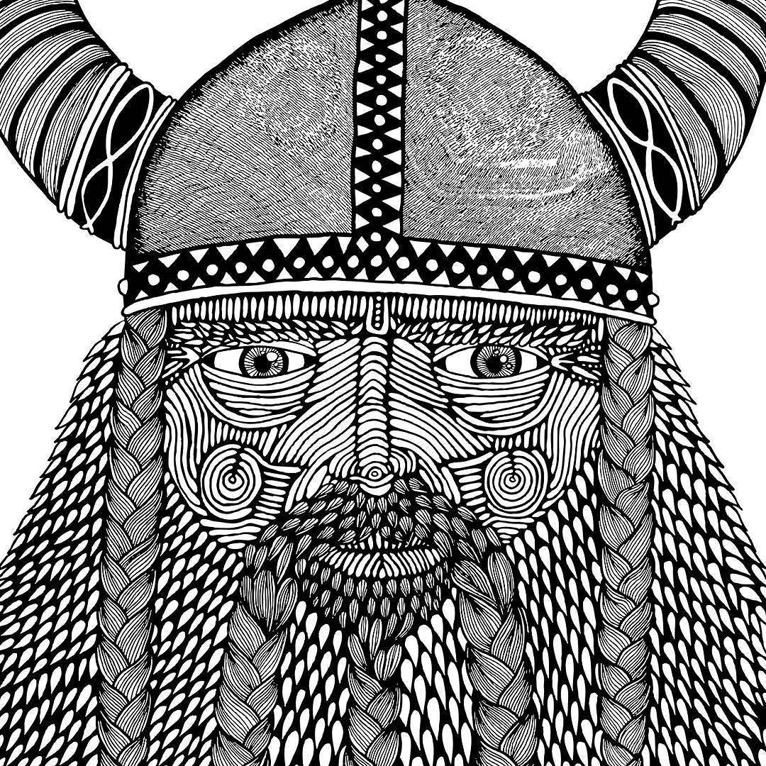 Eric the Viking is one of my original beardy artworks. I drew him nearly 5 years ago after my son Frankie was born.  Eric is on some sweet 3/4 sleeve tees at my stall at the Sydney Royal Easter Show at the moment. Find me in the Fashion and Style Pavillion next to the Wood chop stadium.
