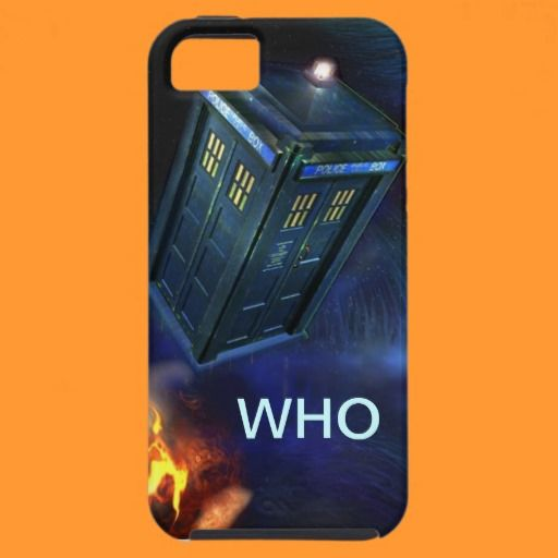 Funny Blue Box iPhone Case iPhone 5 Cover