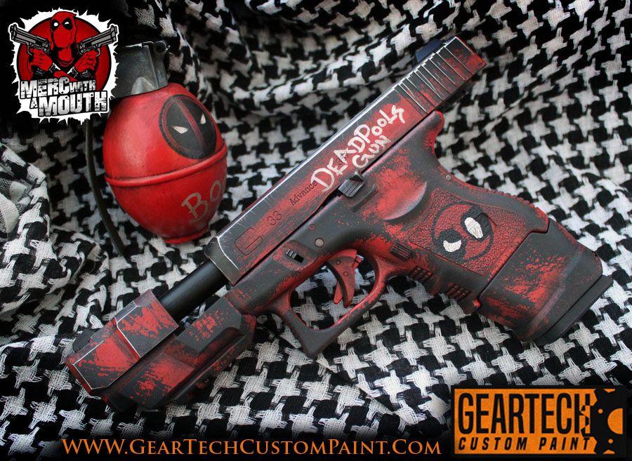 Deadpool Airsoft Commission By Dog Green 1 Custom Guns